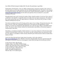 Law Office Of Rick Koenig In Sedalia MO, Provides Personal Injury Legal Help