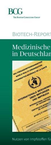 Medizinische Biotechnologie in Deutschland 2016