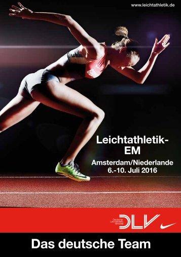 Das DLV-Team bei der Leichtathletik-EM 2016 in Amsterdam