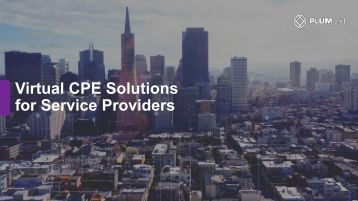 Virtual CPE Solutions for Service Providers