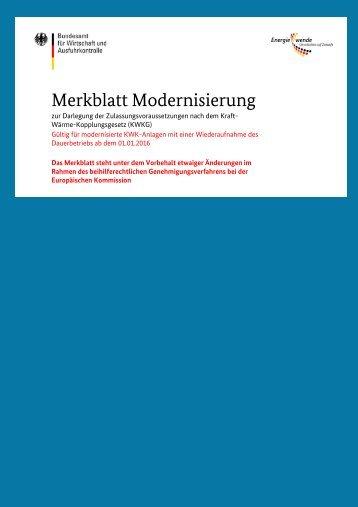 Merkblatt Modernisierung