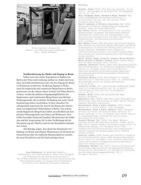 Ausgrenzung, Stigmatisierung, Exotisierung - Urbane Lebenswelten von Roma / dérive - Zeitschrift für Stadtforschung, Heft 64 (3/2016)