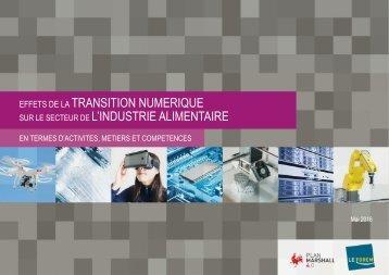 TRANSITION NUMERIQUE L'INDUSTRIE ALIMENTAIRE