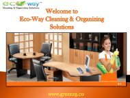 Office Cleaning New Jersey| Eco-Way Cleaning & Organizing Solutions