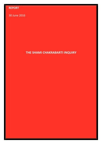 THE SHAMI CHAKRABARTI INQUIRY