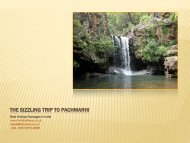 The sizzling trip to Pachmarhi - HolidayKeys.co.uk