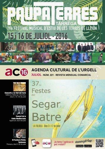 Agenda JULIOL 2016