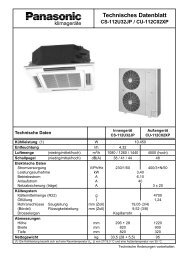 Technisches Datenblatt CS-112U32JP / CU ... - Kälte Bast GmbH