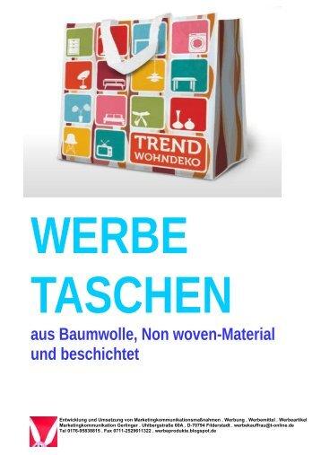 Taschen für Ihre Werbung, aus Baumwolle, Non-woven-Material und beschichtet