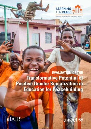 Education for Peacebuilding