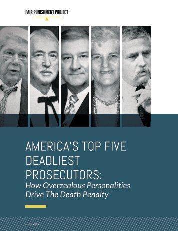 AMERICA'S TOP FIVE DEADLIEST PROSECUTORS