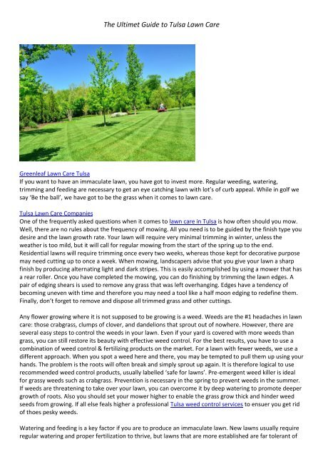 The Ultimet Guide to Tulsa Lawn Care6