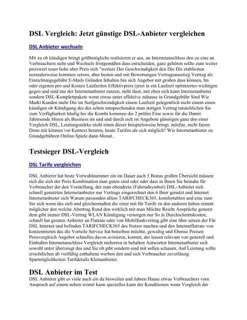DSL Vergleich - Jetzt günstige DSL-Anbieter vergleichen