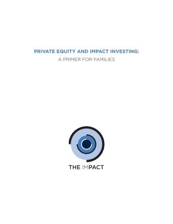 PRIVATE EQUITY AND IMPACT INVESTING
