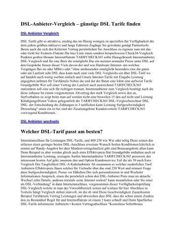 DSL-Anbieter-Vergleich – günstige DSL Tarife finden6