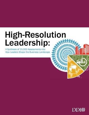 High-Resolution Leadership