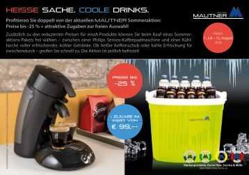 HEISSE SACHE. COOLE DRINKS.