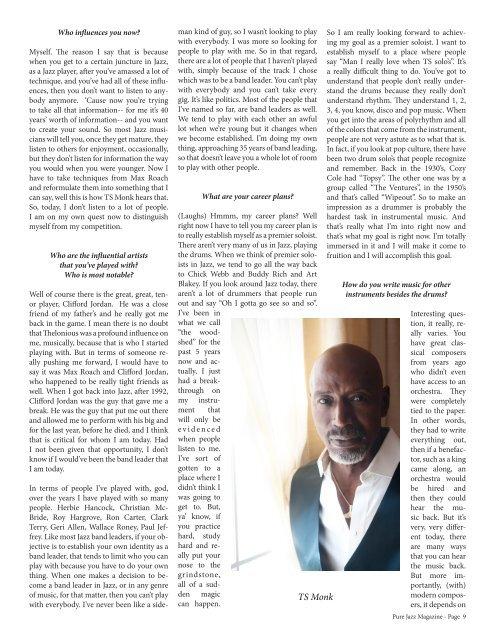 Pure Jazz Magazine Vol 7 Issue 1 Horace Silver-PJM  2016
