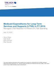 Medicaid Expenditures for Long-Term Services and Supports (LTSS) in FY 2014