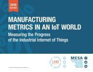 MANUFACTURING METRICS IN AN IoT WORLD