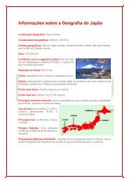 Informações sobre a Geografia do Japão