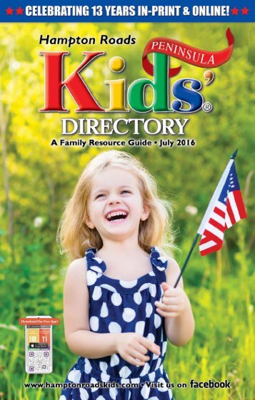 Hampton Roads Kids' Directory Peninsula Edition: July 2016