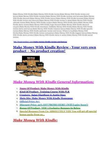 Make Money With Kindle Review and (MASSIVE) $23,800 BONUSES