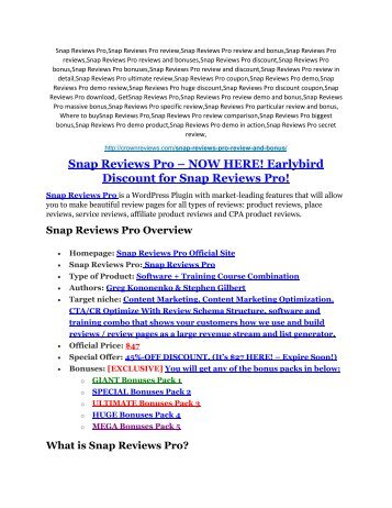 1Snap Reviews Pro review-(SHOCKED) $21700 bonuses