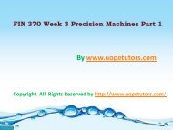 FIN 370 Week-3 Precision Machines Part 1