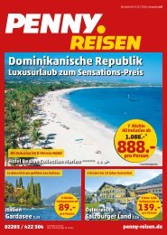 PENNY Reisen Flyer Juli 2016