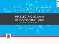 MIX ÉLECTRIQUE 100 % RENOUVELABLE À 2050