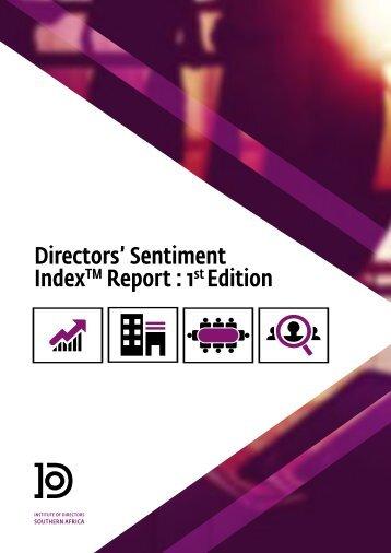 Directors' Sentiment Index Report  1 Edition