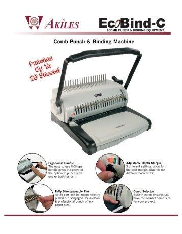 EcoBind-C Akiles Comb Binding Machine by Printfinish.com