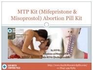Use MTP Kit Mifepristone and Misoprostol Online @ BuyBirthControlPills