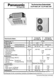 Technisches Datenblatt CS-P140U1JP / CU ... - Kälte Bast GmbH