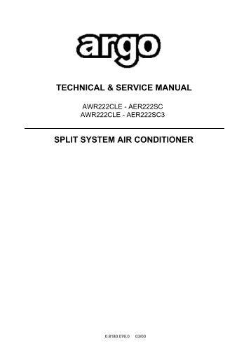 Dl Split System Air Conditioner Manual