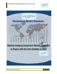 Medical Imaging Equipment Market