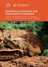 Rainforest protection and responsible investment