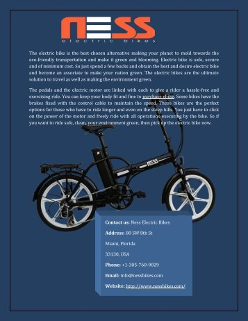Purchase ebike From Online