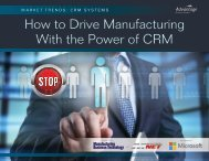 How to Drive Manufacturing With the Power of CRM
