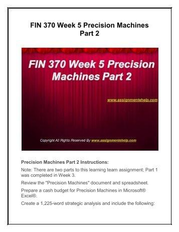fin 370 week 5
