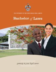 Contents - University of the West Indies