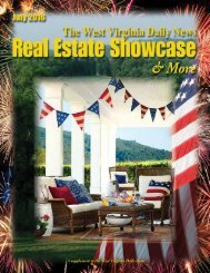 The West Virginia Daily News Real Estate Showcase & More | July 2016