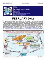 FEBRUARY 2012 - Raleigh Aquarium Society