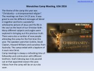 Wenatchee Camp Meeting USA 2016