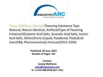 Flavor Additives  Market