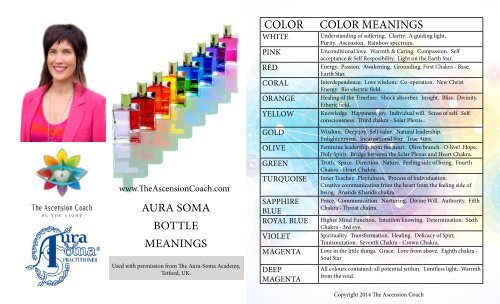 The Ascension Coach : Aura Soma Equilibrium Bottle Meanings