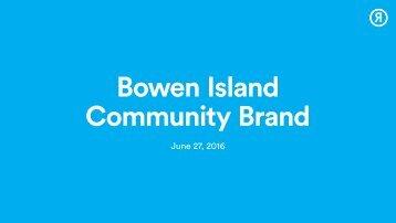Bowen Island Community Brand