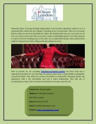 Find Upholstery Cleaning London Online