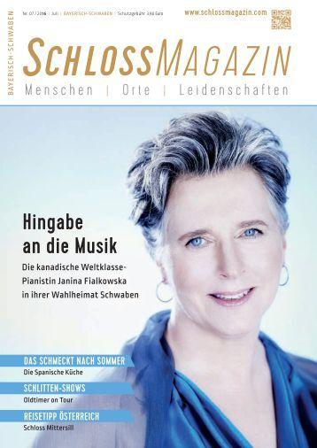 SchlossMagazin Bayerisch-Schwaben Juli 2016